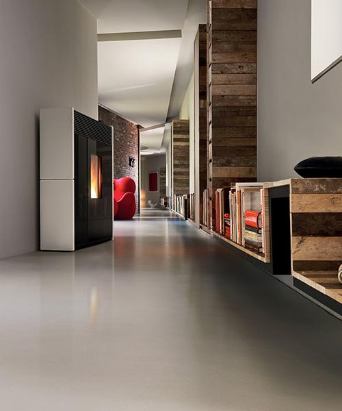Linea modern pellet stove by MCZ