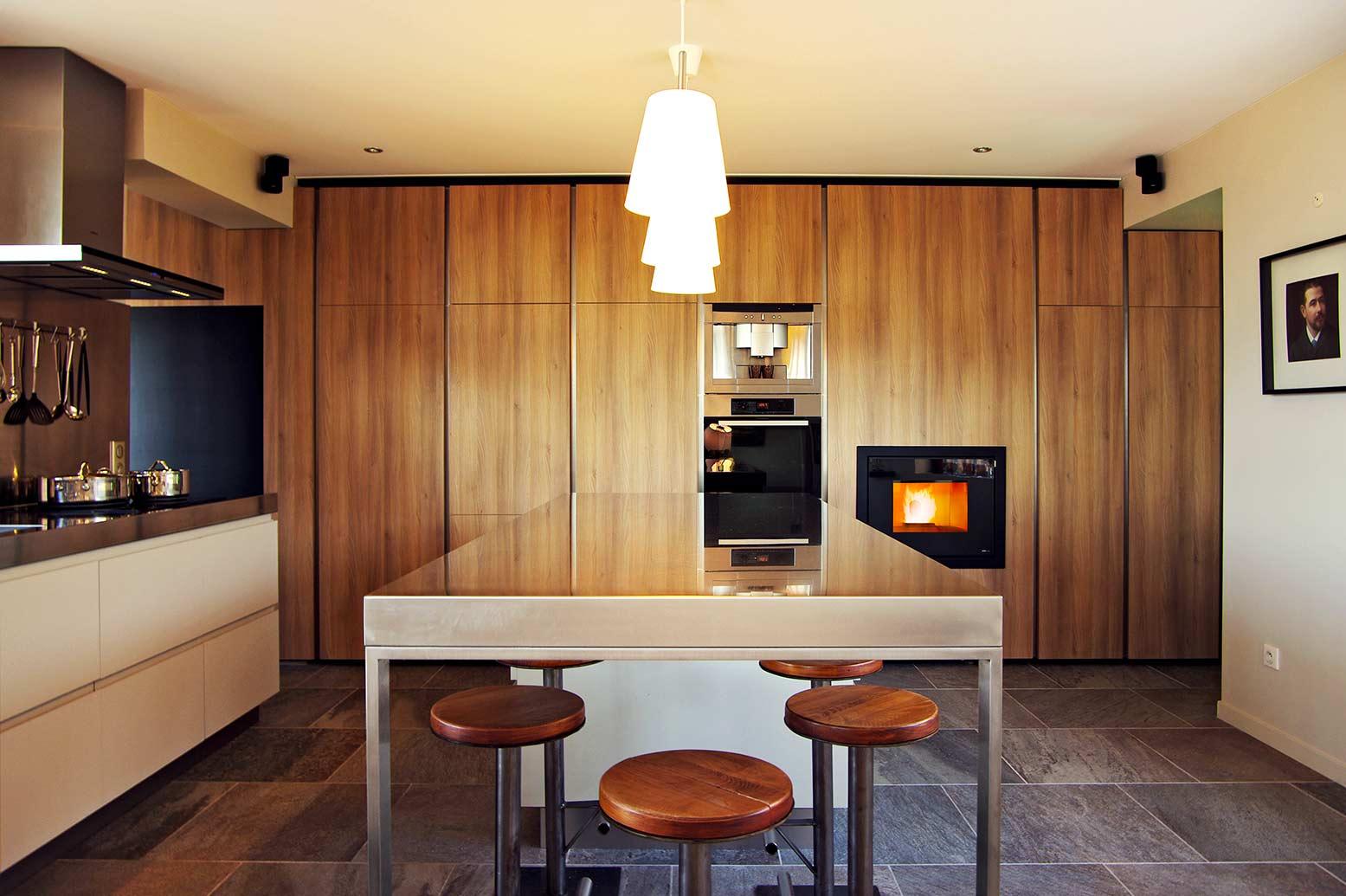 vivo 80 caminetto a pellet mcz. Black Bedroom Furniture Sets. Home Design Ideas