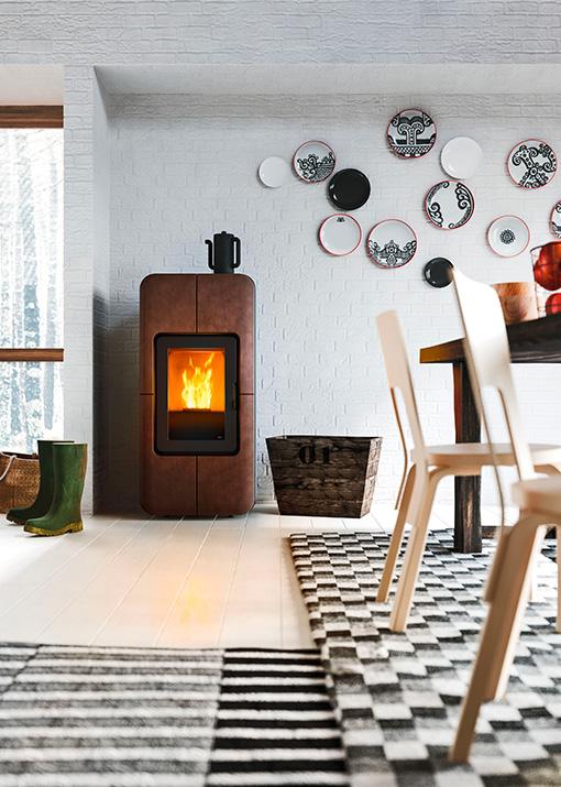 Designer pellet stove Toba MCZ