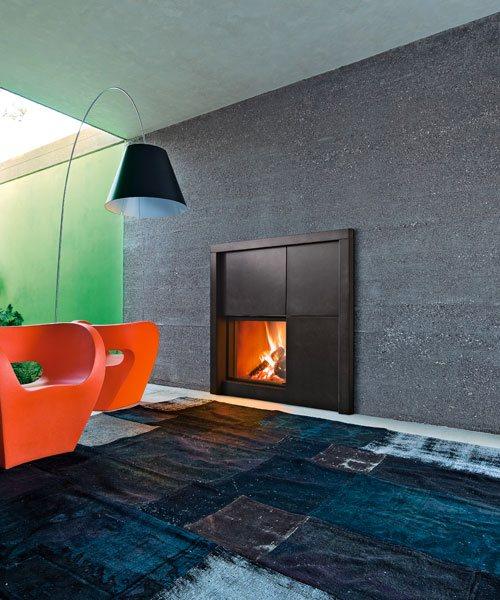 habillage de chemine finest chemine avec foyer ferm mdesign v avec habillage en parement. Black Bedroom Furniture Sets. Home Design Ideas