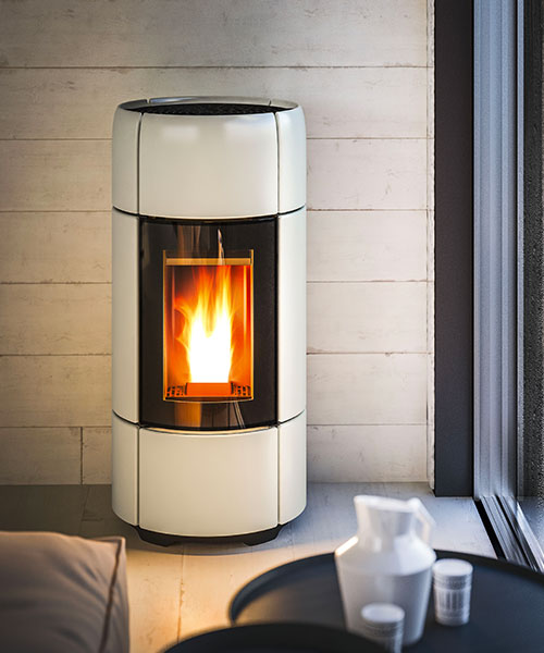 Curve modern pellet stove by MCZ