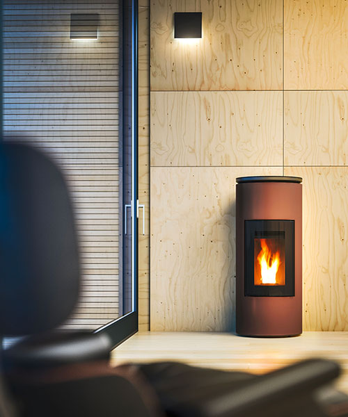 Mood modern pellet stove by MCZ