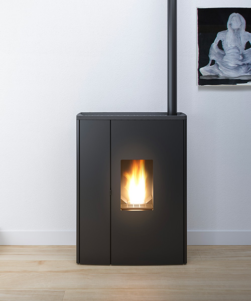 Doc modern pellet stove by MCZ