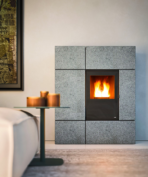 Stream modern pellet stove by MCZ