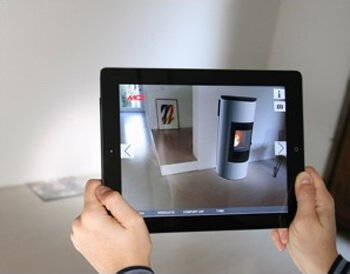 Pellet stoves in augmented reality by MCZ
